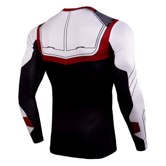 super hero quantum realm sweatshirt endgame long sleeve compression workouts shirt