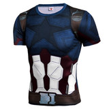 captain america infinity war compression shirt short sleeve workouts tee mens