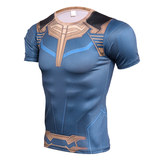 short sleeve thanos compression shirt for boys