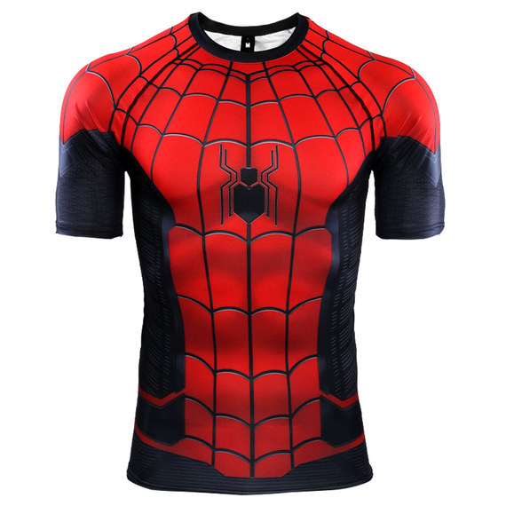 spider man far from home t shirt short sleeve workouts shirt