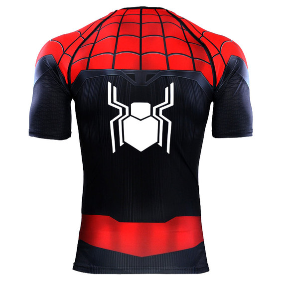 short sleeve dri fit spider man graphic tee