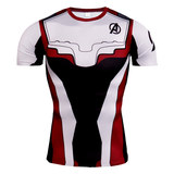 avengers 4 quantum realm t shirt short sleeve compression workouts tee