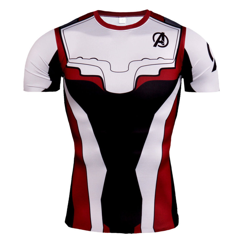 Quantum Realm Avengers Endgame Costume Cosplay Compression T Shirt Ironman Hulk