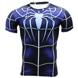 spider man infinity war compression shirt short sleeve workouts tee
