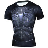 short sleeve spiderman boys shirt dri fit superhero compression tee