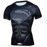 Dri Fit short sleeve superman gym shirt