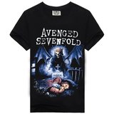 Avenged Sevenfold Forever Shirt Short Sleeve Graphic Tee black