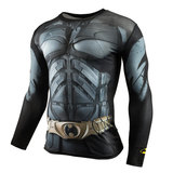 long sleeve bat man super hero running t shirt