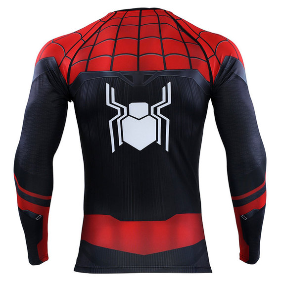 Quick Dry Marvel Spider Man Far From Home Halloween Costume Shirt Long Sleeve