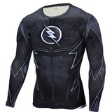 quick dry the flash compression shirt long sleeve black