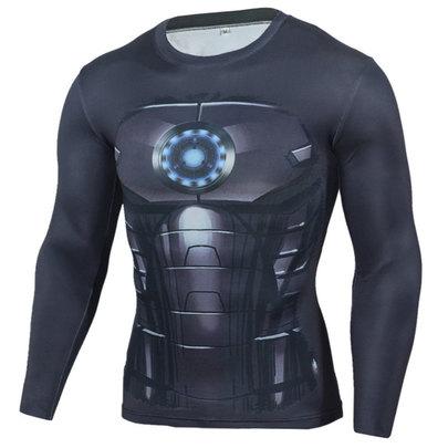 marvel iron man t shirt long sleeve dri fit superhero compression shirt