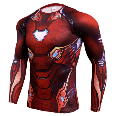 long sleeve iron man compression t shirts