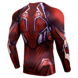 long sleeve best men's compression shirt iron man print tee