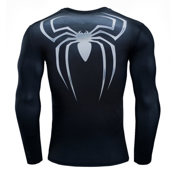 boys spiderman spiderman comic shirt long sleeve compression shirt
