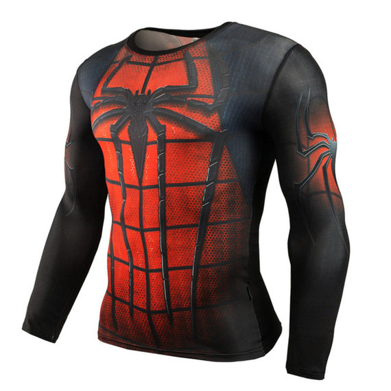 spider man ps4 shirt long sleeve compression workouts tee
