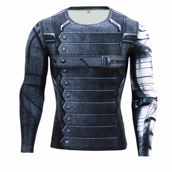 winter soldier bucky barnes shirt Captain America workouts T shirt
