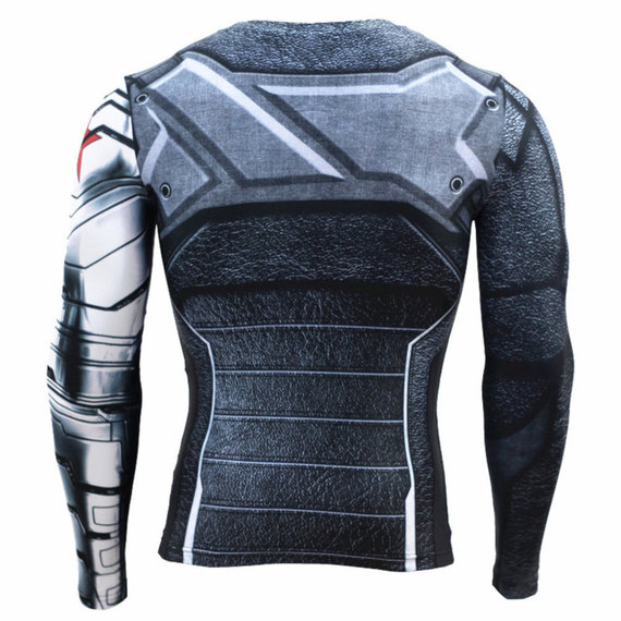 captain america winter soldier costume long sleeve
