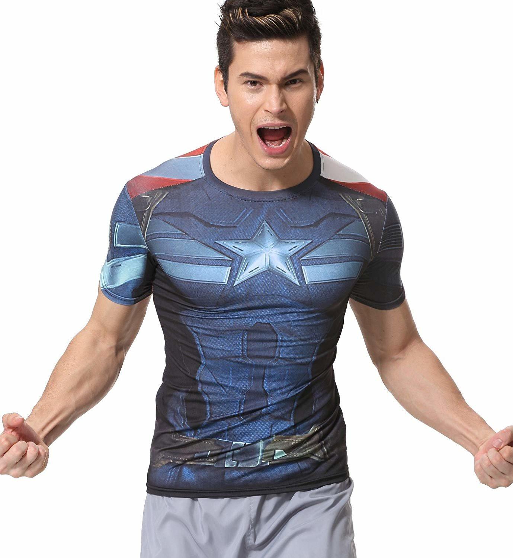captain america civil war compression shirt