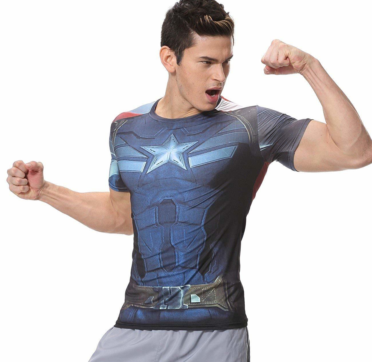 marvel captain america compression shirt