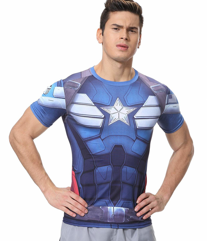 captain america athletic shirt