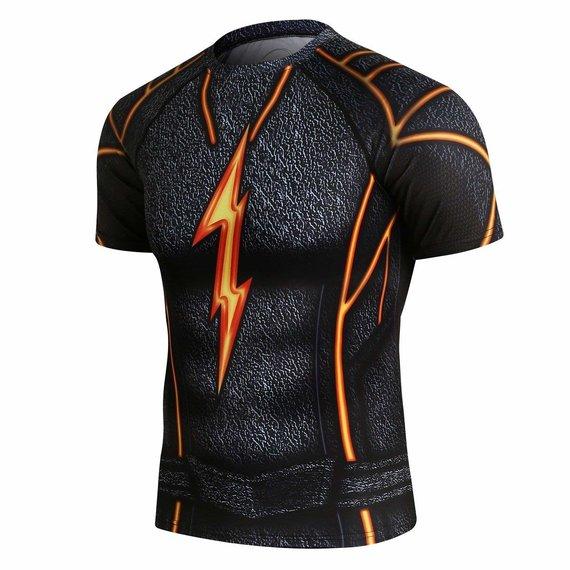 flash superhero compression shirt