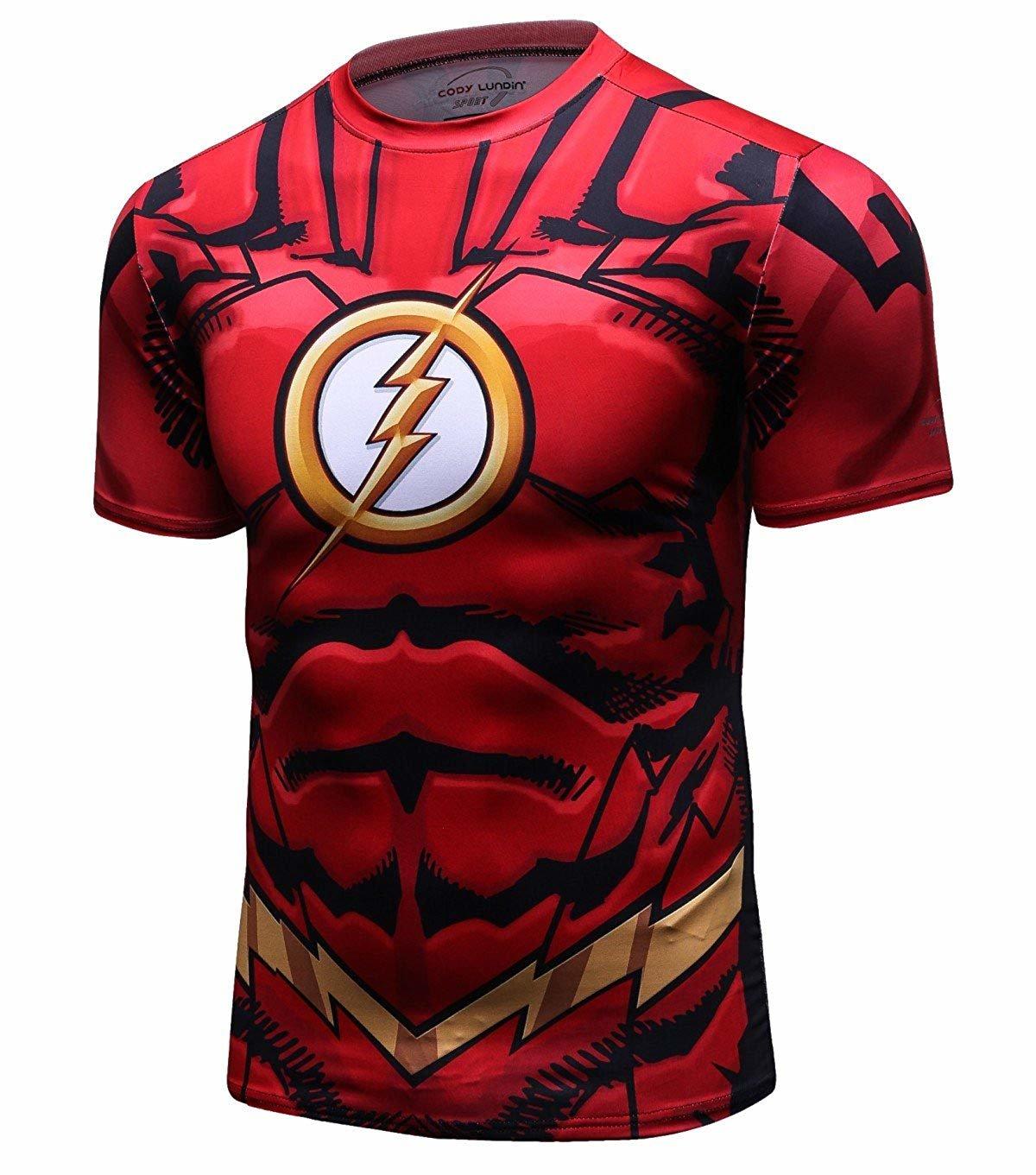 flash man t shirt boys