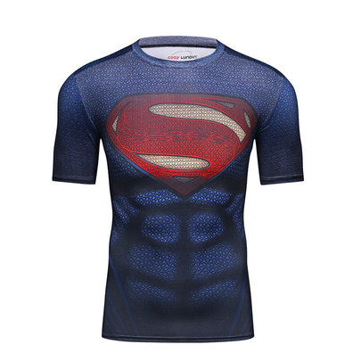 superman dri fit shirt mens short sleeve top