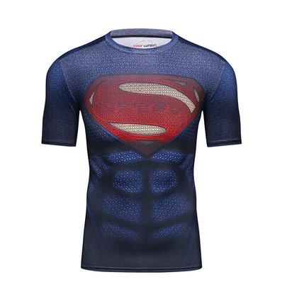 superman dri fit shirt mens short sleeve top