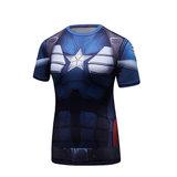 short sleeve captain america womens t shirt costume