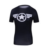 captain america classic costume shirt short sleeve quick dry tee