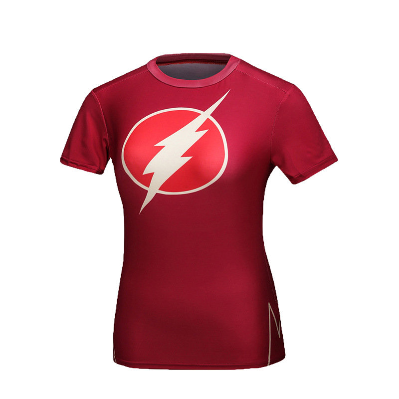 Flash Superhero Compression Shirt For Ladies
