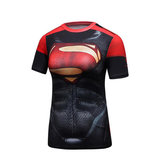 dri fit short sleeve classic superman compression shirt for workouts