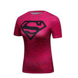 quick dry short sleeve superman vintage tee for womens