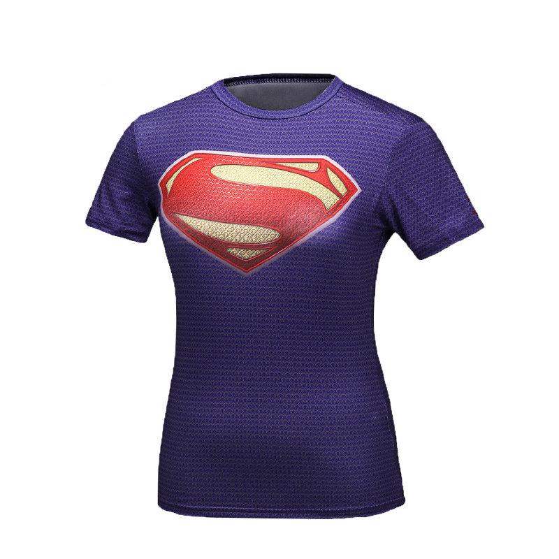 Womens Personalized Superman Shirt Purple
