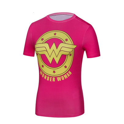 dri fit short sleeve wonder woman compression shirt