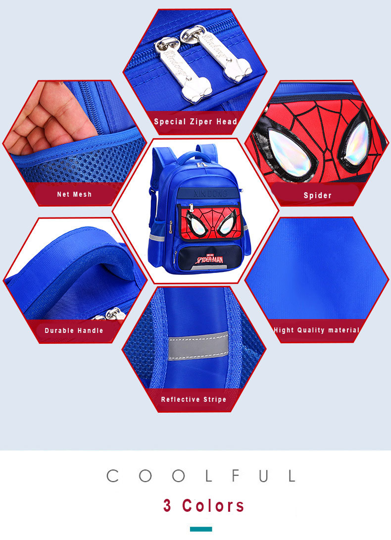 feature of spider-man backpack