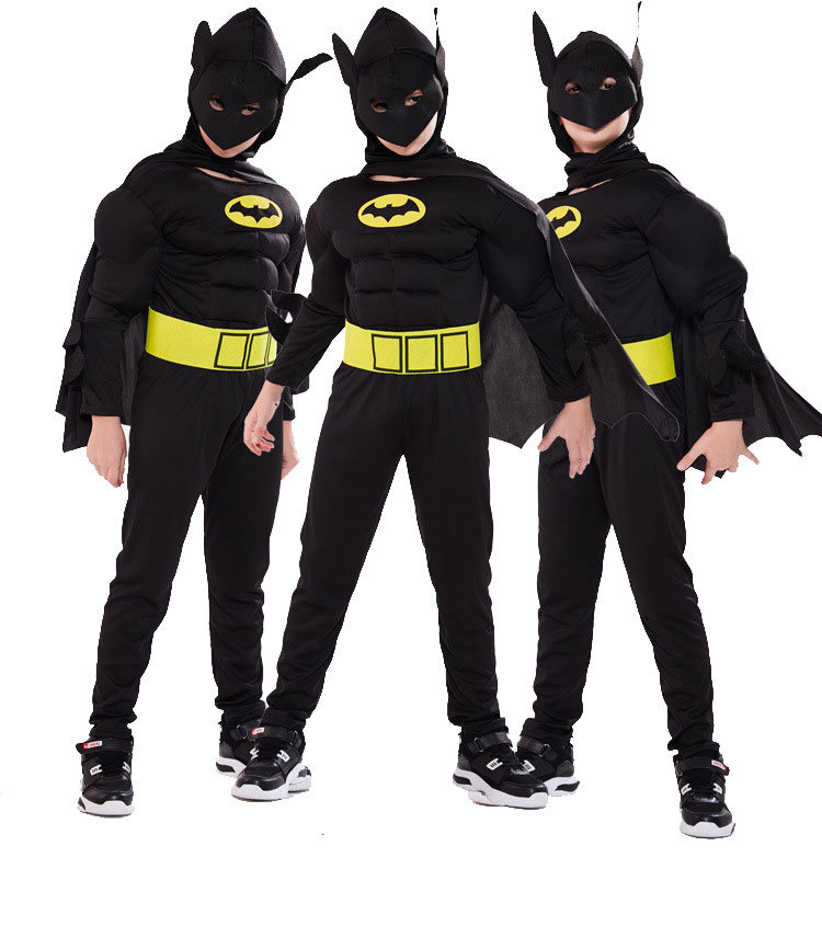 Childrens Batman Costume With Muscles For Cosplay