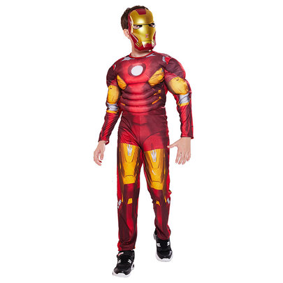 childrens Iron Man Muscle Costume For Cosplay