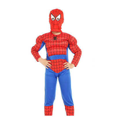 spider man red costume for boys