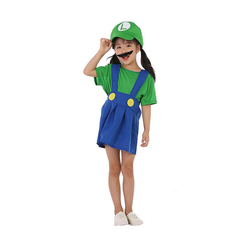 Green Super Mario Costume For Girls Pkaway