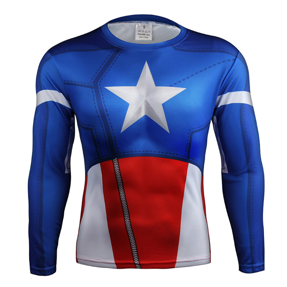Captain America Cosplay T Shirt