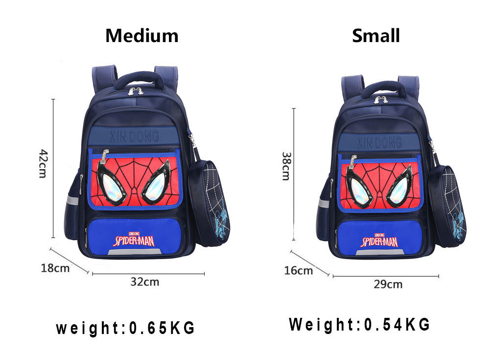 Superhero Spider-man Backpack For Girls