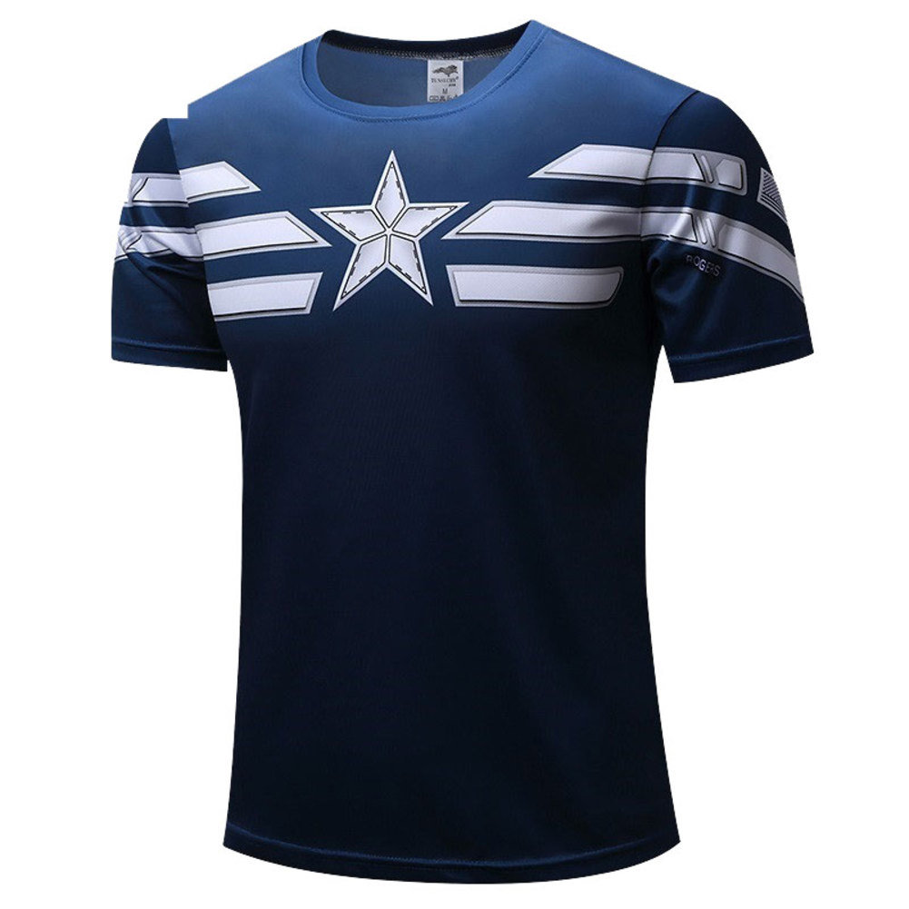 Captain America Distressed Shield T Shirt