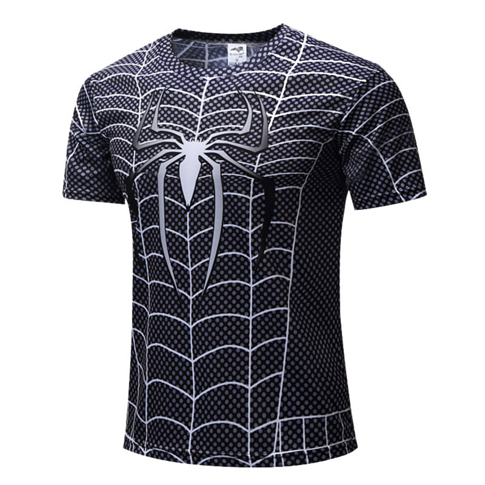 Black Spiderman Gym T Shirt