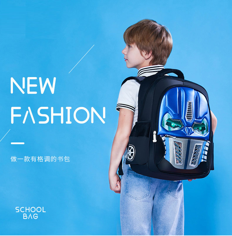 fashion Transformers school bag for childrens
