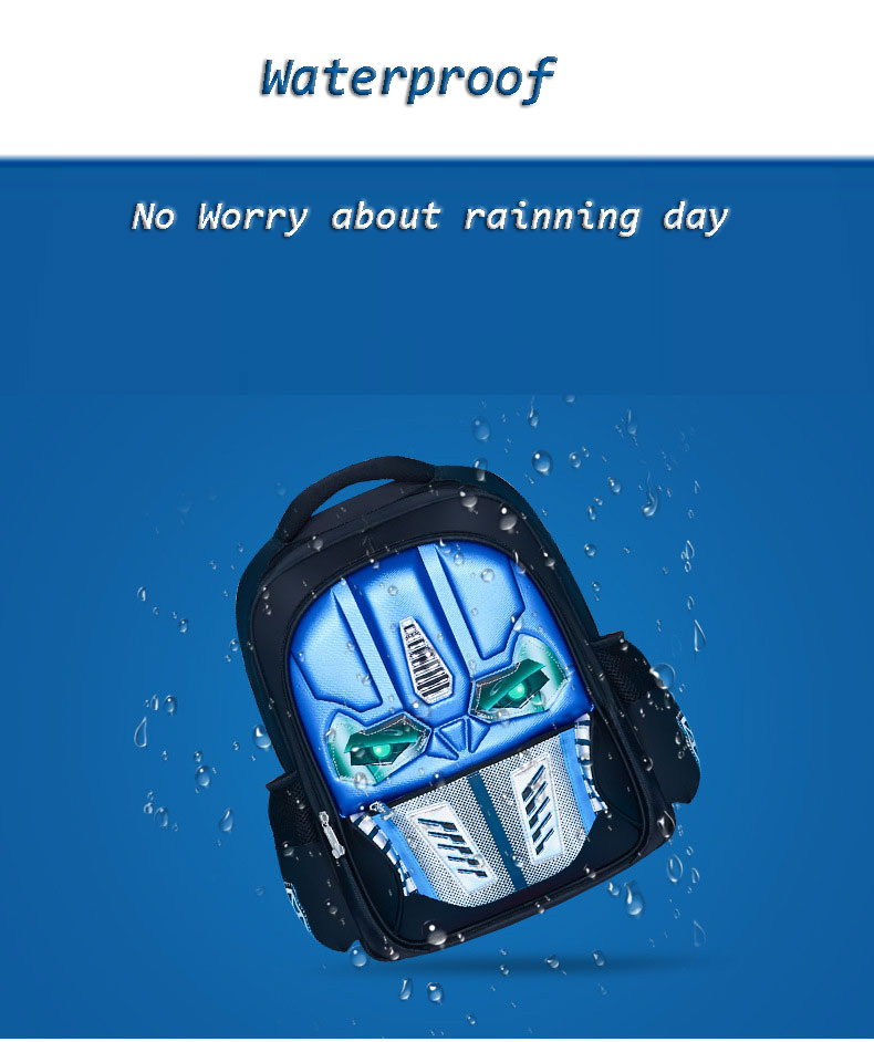 waterproof Transformers backpack for school boys