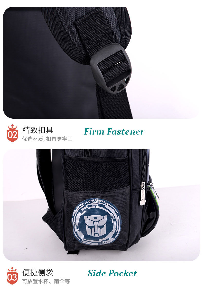 Transformers backpack for childrens