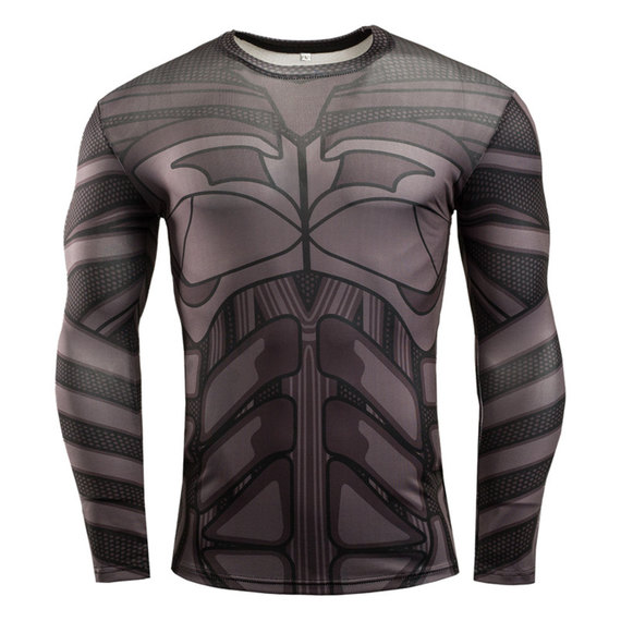 long sleeve batman compression shirt