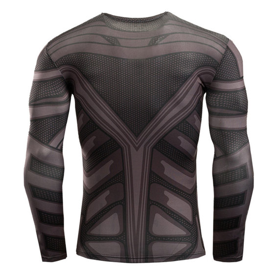 long sleeve superhero compression shirt batman