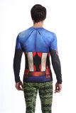 long sleeve avengers workout shirts polyester captain america